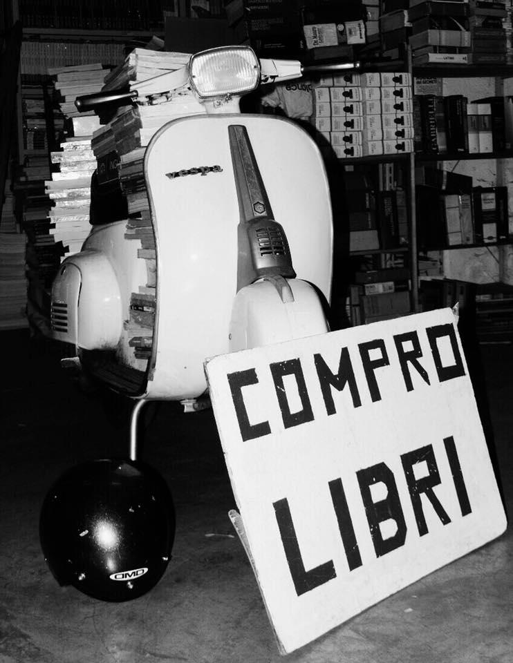 magazzino libri scuola usati negli anni settanta